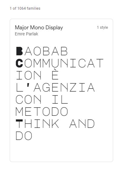 major-mono-google-font